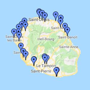 25 sites sur l'île de la Réunion